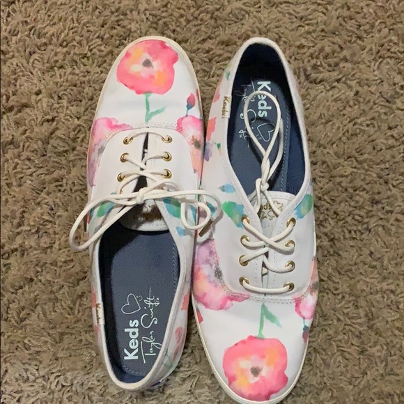 Keds Shoes - Taylor Swift Watercolor Flower Keds